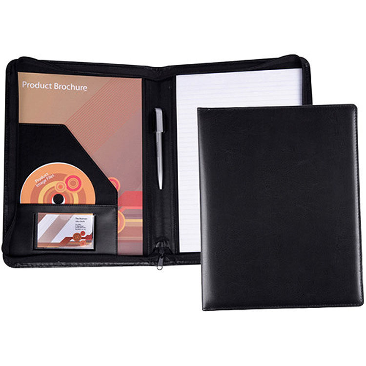 5510_pu_lugano A4 Zipped Conference Folder (from stock)