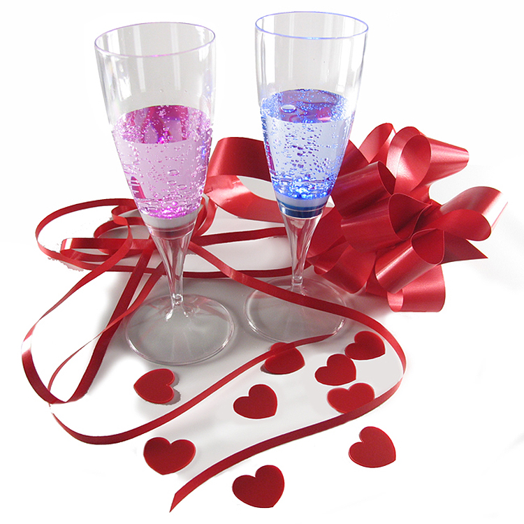 Glow Glass Flutes – Blue and Pink Pack