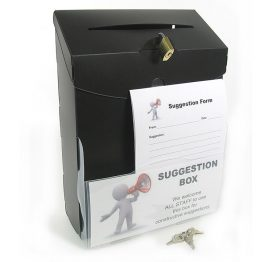 Print On Demand Suggestion Box / Ballot Box