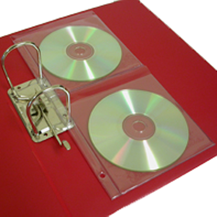 Double CD Pocket for ring binding (100 pack)