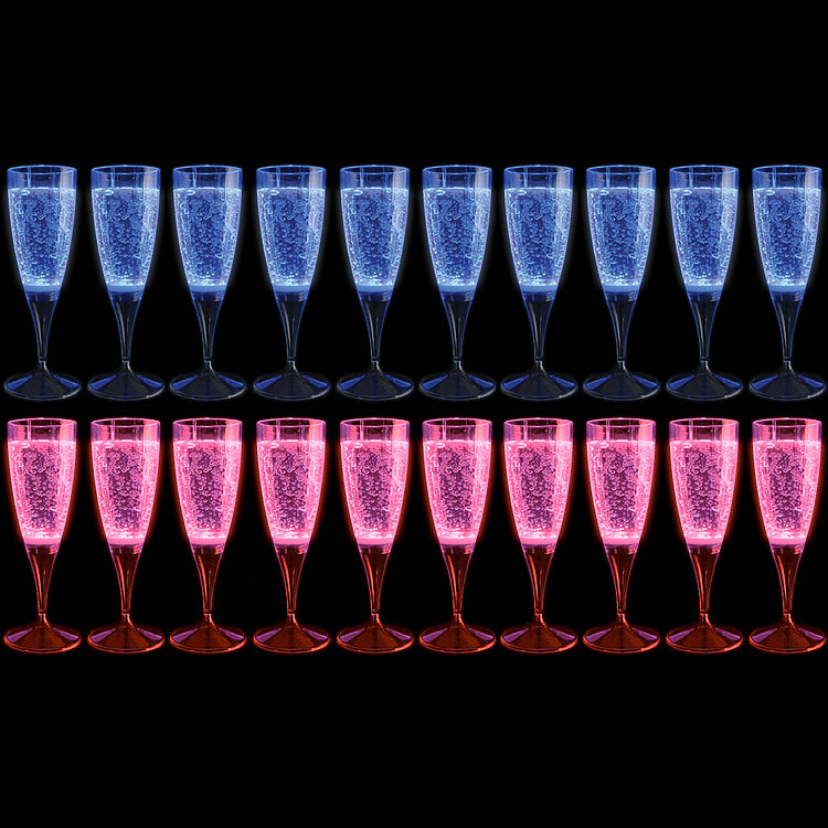 Glow Glass Flutes x 10