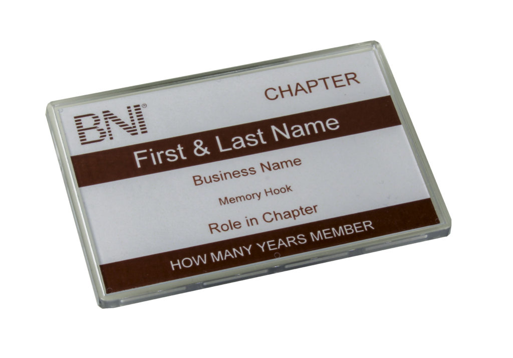 BNI – Insertable Magnetic Badge (Including Insert)